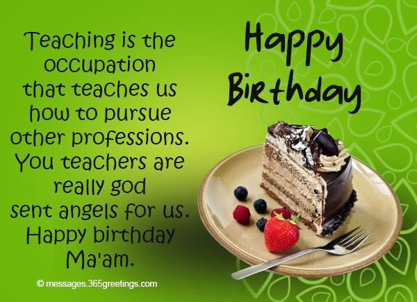Birthday Wishes For Teacher 365greetings Com