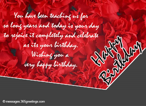 Birthday Wishes For Teacher 365greetingscom