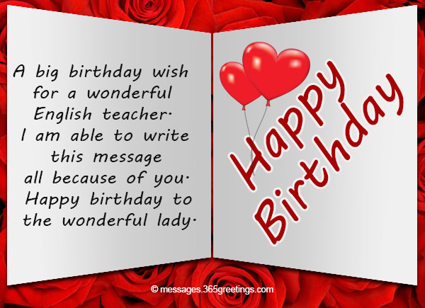 Birthday Wishes For Teacher 365greetings