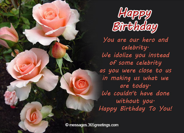 Birthday Wishes For Teacher Quotes ~ Birthday wishes for teacher 365greetings.com