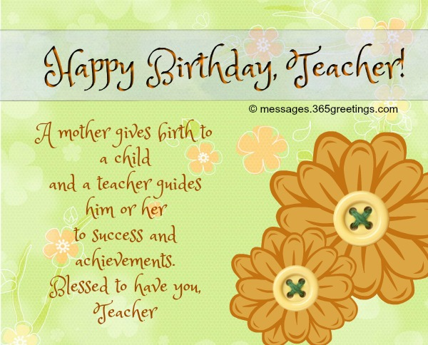 Birthday Wishes For Teacher - 365greetings com