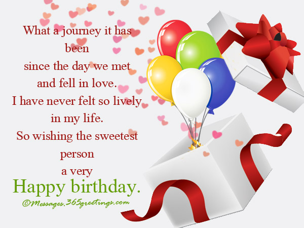 Birthday Wishes For Lover 365greetings – Happy Birthday Card Message