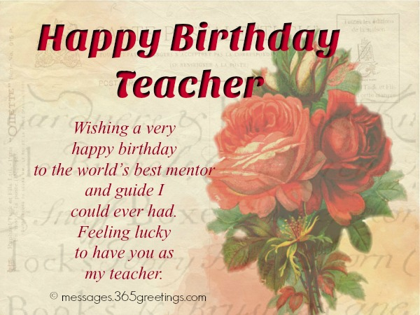 Birthday wishes for teacher 365greetings birthday messages for teacher m4hsunfo