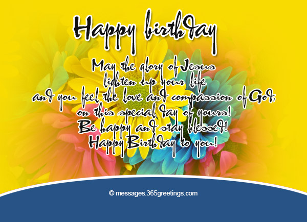 Christian Birthday Wishes Messages Greetings and Wishes – Religious Birthday Card Messages