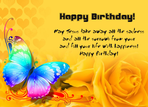 Christian Birthday Wishes Messages Greetings and Wishes – Birthday Greetings Religious