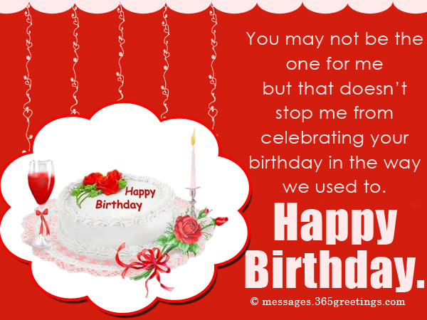 Birthday Wishes For Ex Boyfriend Messages Greetings and Wishes – Birthday Greetings to a Lover
