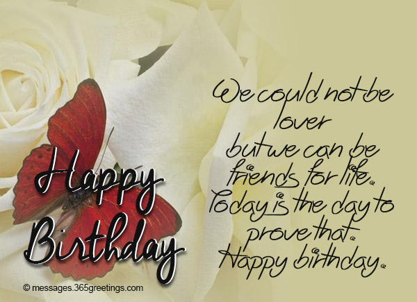 Happy Birthday Message Good Friend ~ Birthday wishes for ex boyfriend greetings