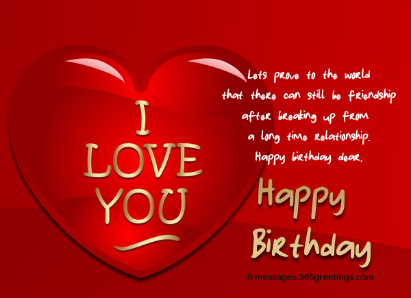 Heart touching birthday wishes for ex girlfriend