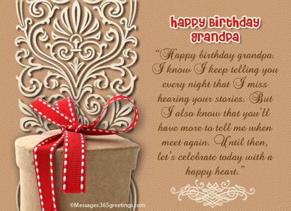 birthday speech for grandpa