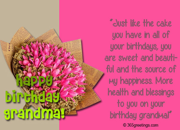 Birthday wishes for grandparents 365greetings just like the cake you have in all of your birthdays you are sweet and beautiful and the source of my happiness more health and blessings to you on your m4hsunfo