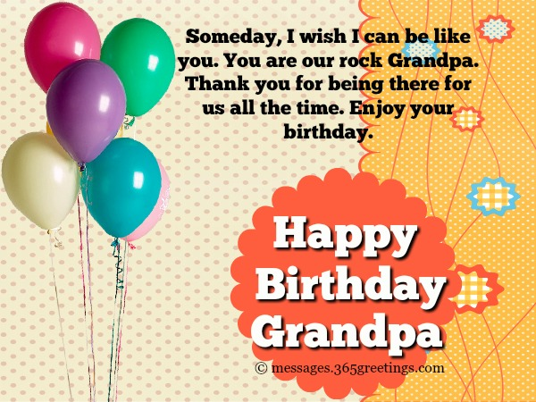 Happy Birthday Messages For Grandpa
