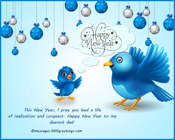 best happy new year greetings for father