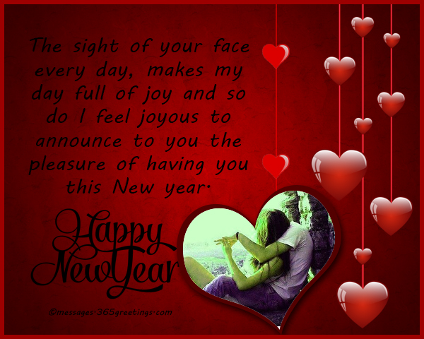 honey this new year its my prayer you have special happiness with no regrets and bitterness happy new year