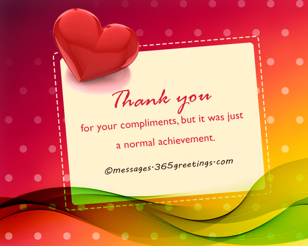 how to say thank you for compliment