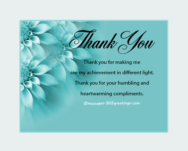 How to say thank you for a compliment 365greetings thank you for making me feel so loved and cherished the truth is that you are the best gift to this world and im blessed that you are mine m4hsunfo