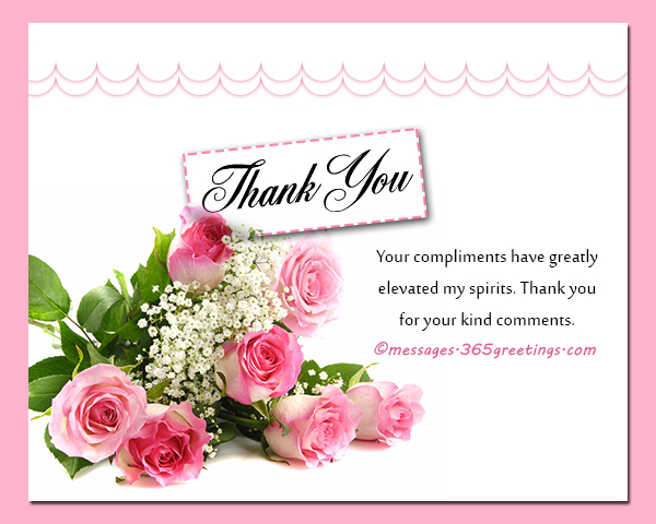 How to Say Thank You for a Compliment - 365greetings.com