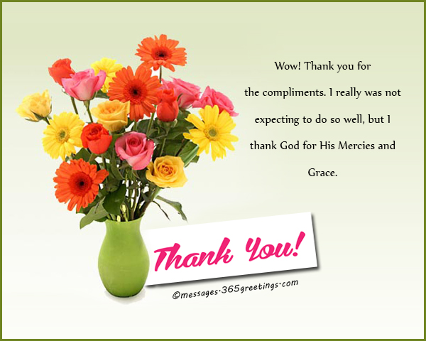 How to say thank you for a compliment 365greetings thank you very much it is a great honor to know my efforts have been recognized by my role models m4hsunfo
