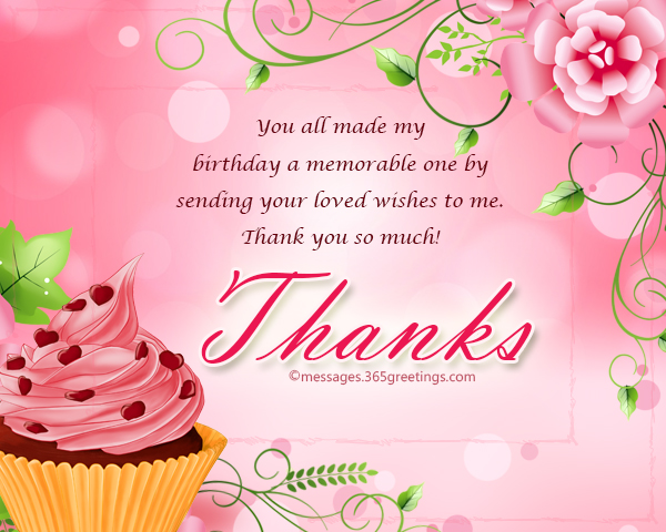 Thank You Message For Birthday Wishes On Facebook 365greetings