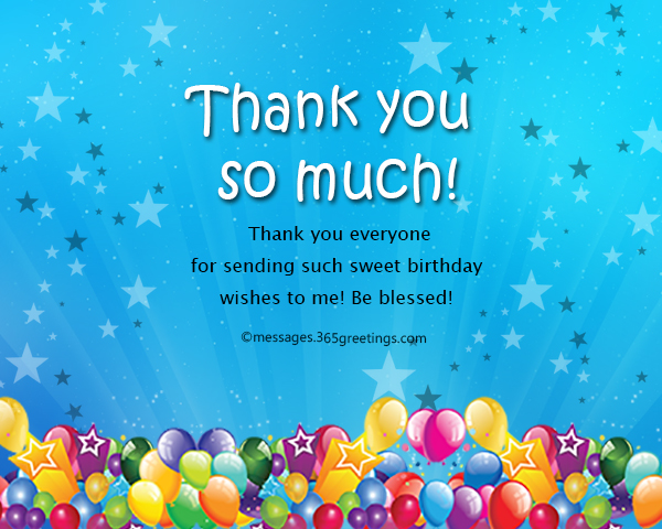 Thank you message for birthday wishes on facebook 365greetings thank you everyone message for birthday on facebook m4hsunfo Images