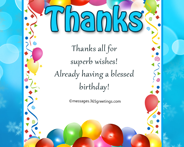 Thank You Message For Birthday Wishes On Facebook - 365greetings com