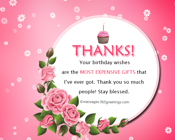 Thank you message for birthday wishes on facebook 365greetings on this special day of mine thank you for sending me your birthday wishes and reminding me that i am loved i thank god for surrounding me with such lovely m4hsunfo