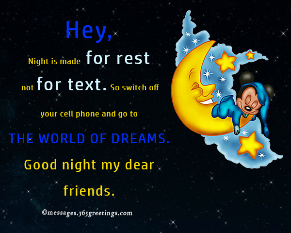Funny Good Night Messages 365greetings Com