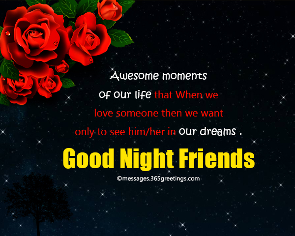 Good Night Messages For Friends 365greetingscom