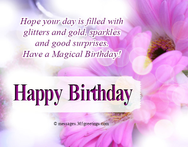 Hope Your Day Is Filled With Glitters And Gold Sparkles Good Surprises Have A Magical Birthday