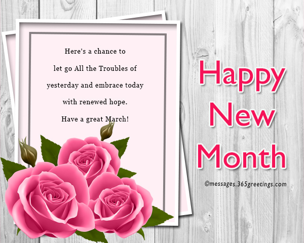 New month messages and wishes 365greetings happy new month for march m4hsunfo