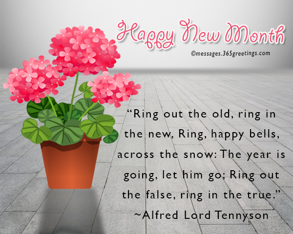 New Month Messages And Wishes 365greetingscom