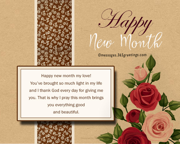 New month messages and wishes 365greetings happy new month my love youve brought so much light in my life and i thank god every day for giving me you that is why i pray this month brings you m4hsunfo
