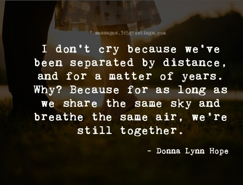 Top long distance relationship quotes with images