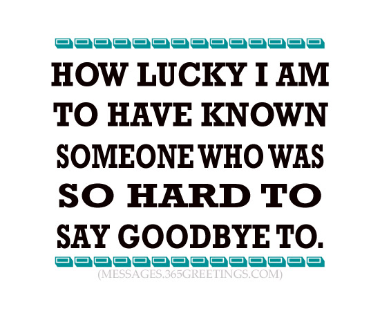 how to say goodbye to someone