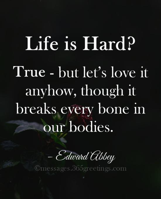 Quotes About Life Being Hard 365greetingscom