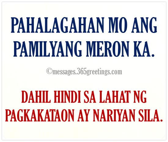 Tagalog Quotes About Family 365greetings Com