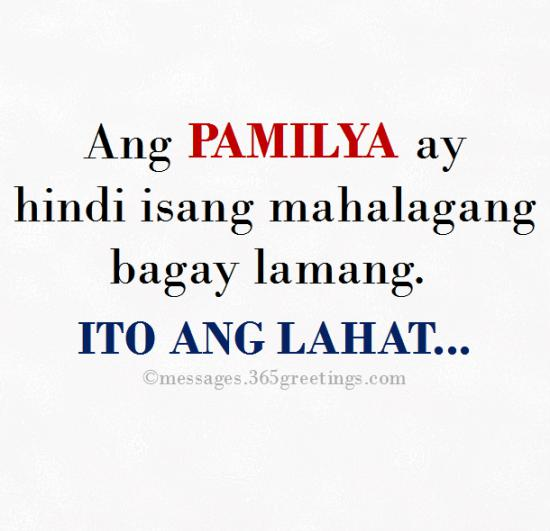 Tagalog Quotes about Family - 365greetings com