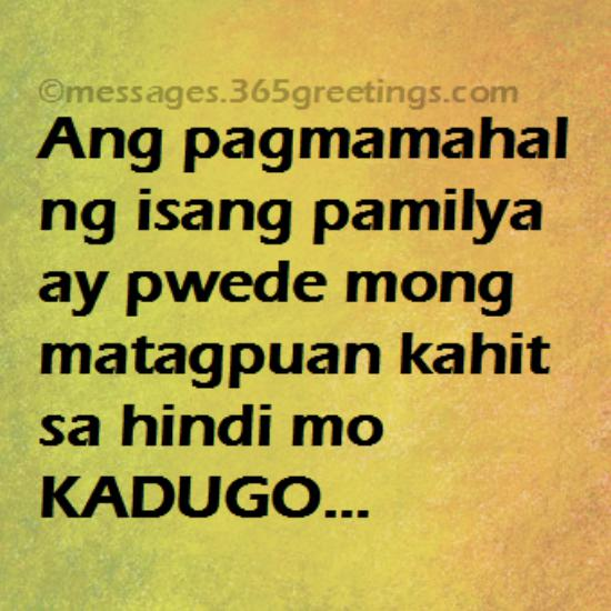 Priority Of Family Quotes Tagalog