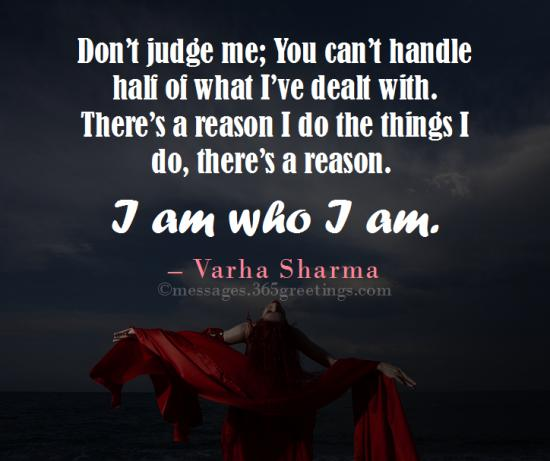 Quotes About Who I Am 365greetingscom
